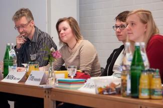 Vorstandsmitglieder: Ulrich Bohlken, Christin Kopka, Nils Munke, Tina Henkensiefken (v.l.)